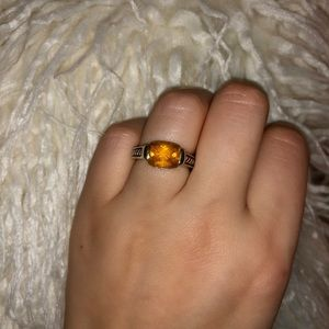 David yurman size 6.5 citrine 925 silver ring